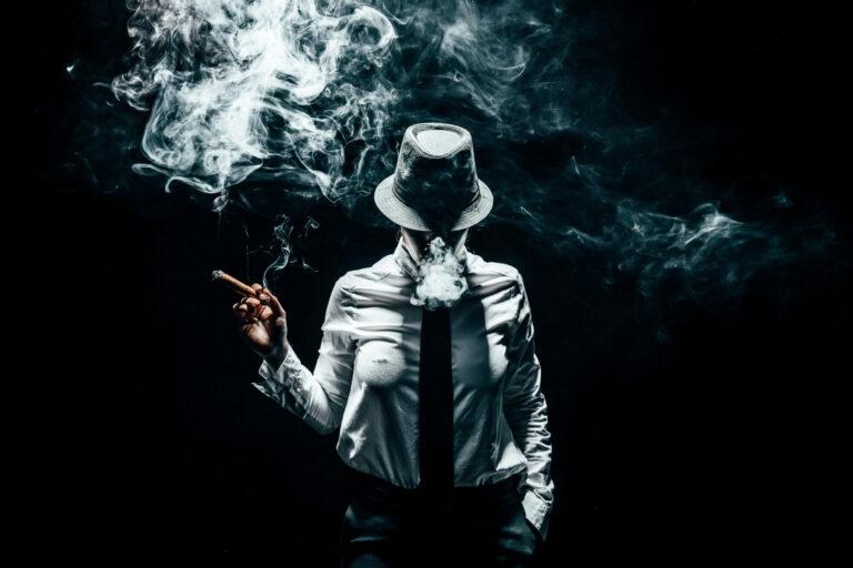 Stuidoportrait mit Rauch